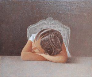 "Gérald Engelvin,""Le rêve"",hst, 55 x 46 cm : 2 8"